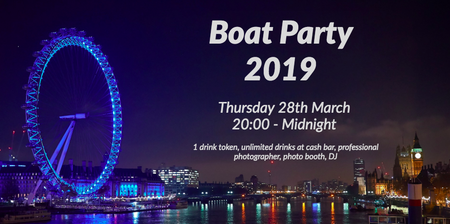 KCL Business Club Boat Party