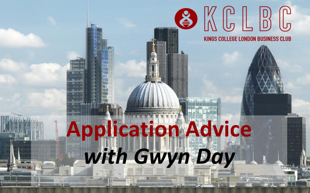 Application Advice with Gwyn Day