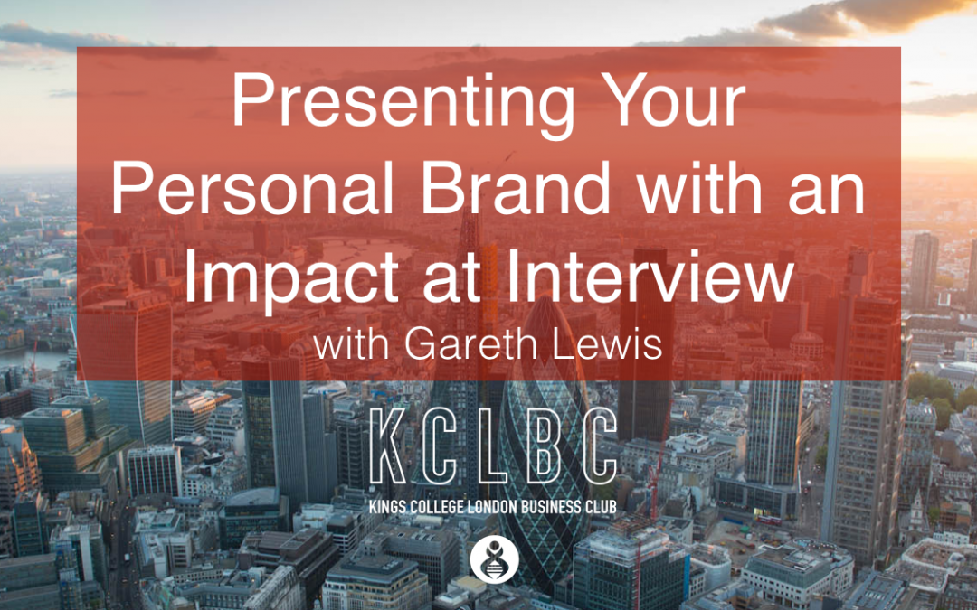Presenting Your Personal Brand with an Impact at Interview