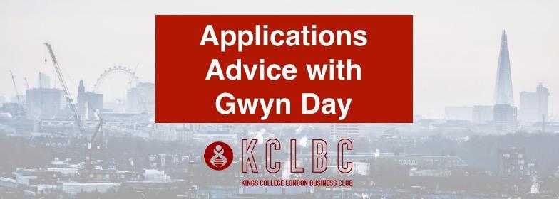 Applications Advice with Gwyn Day