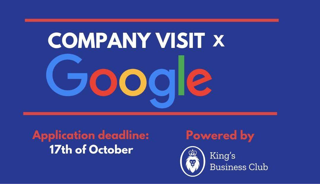 Company Visit x Google