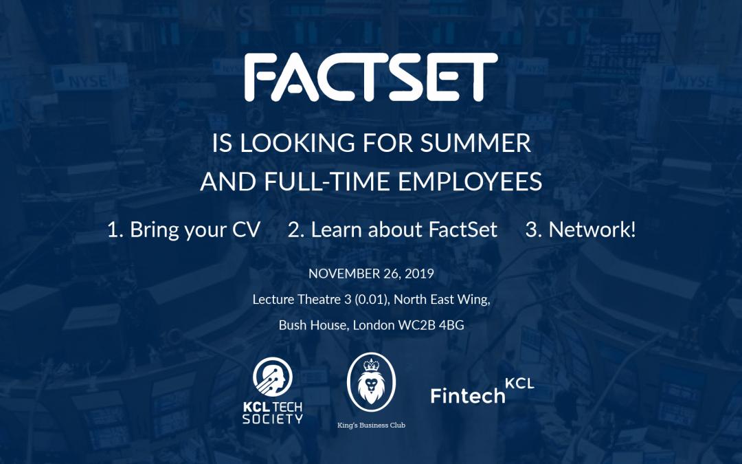 FactSet Summer Internship and Graduate Opportunities